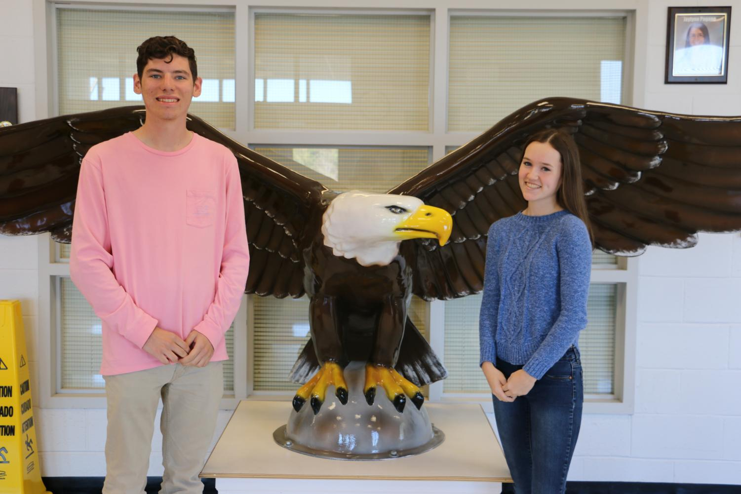 Jake Wilfred and Shannon O'Connell are the October 2018 Seniors of the Month.
