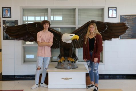 Reece Chevalier and Karleigh Stout are Decembers Seniors of the Month.