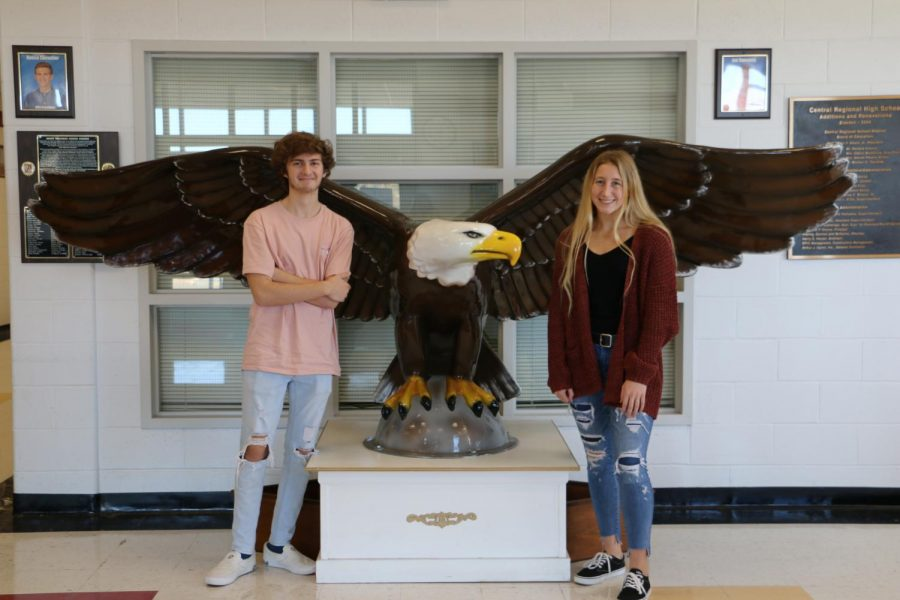 Reece Chevalier and Karleigh Stout are December's Seniors of the Month.