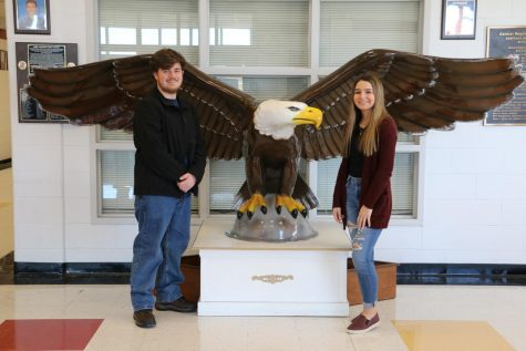 Andrew Lynch and Sydney Vorsteg are January Seniors of the Month