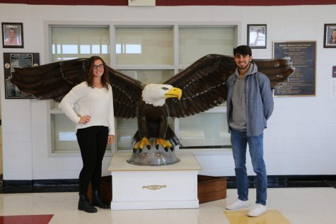 Carly Santucci and Nick Firetto are the November Seniors of the Month.
